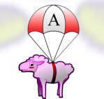 Paratrooper sheep